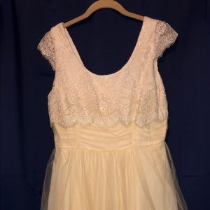 ModCloth tulle and lace dress